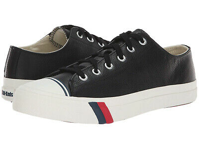 PRO-Keds Men Black Royal Leather Low-Top Casual Sneakers Trainers Sport Shoes