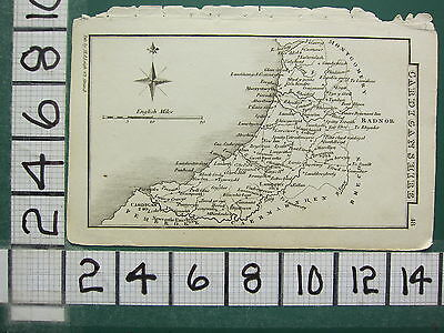 c1833 GEORGIAN MAP ~ CARDIGANSHIRE