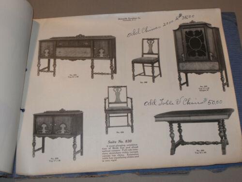 VTG 1910s-20s STATESVILLE FURNITURE CO. CATALOG! BEDROOM & DINING ROOM! PICS! NC