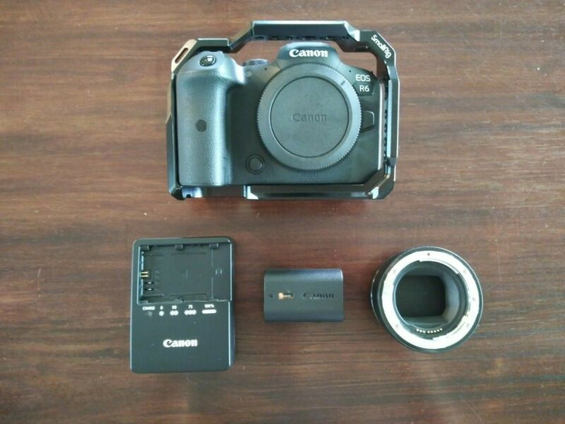 Canon EOS R6 20.1MP Mirrorless Camera - Black (With ef-rf Adapter)