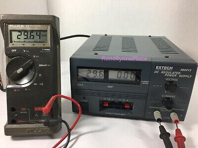 Extech 382213 Digital Triple Output Dc Regulated Power Supply 30v Fixed 5v 12v