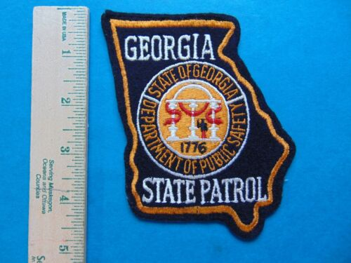 VINTAGE GEORGIA STATE PATROL POLICE OFFICER PATCH  DEPARTMENT OF PUBLIC SAFETY