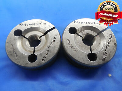 716 48 Ns 2 Thread Ring Gages .4375 Go No Go P.d.s .4240 .4206 Uns-2 Tool