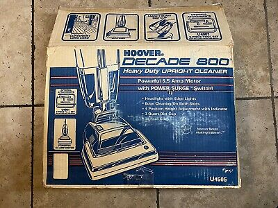 Vintage Hoover Decade 800 Vacuum Cleaner U4505 NEW in Open Box Never Assembled