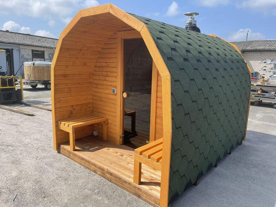 Podsauna 300cm mit Terrasse Sauna mit Holzofen in Wandlitz