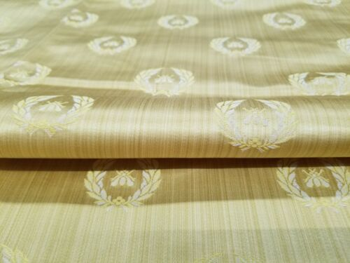 DESIGNER NEOCLASSICAL BEE SILK GOOD DAMASK ITALY UPHOLSTERY  FABRIC 2.2YDS