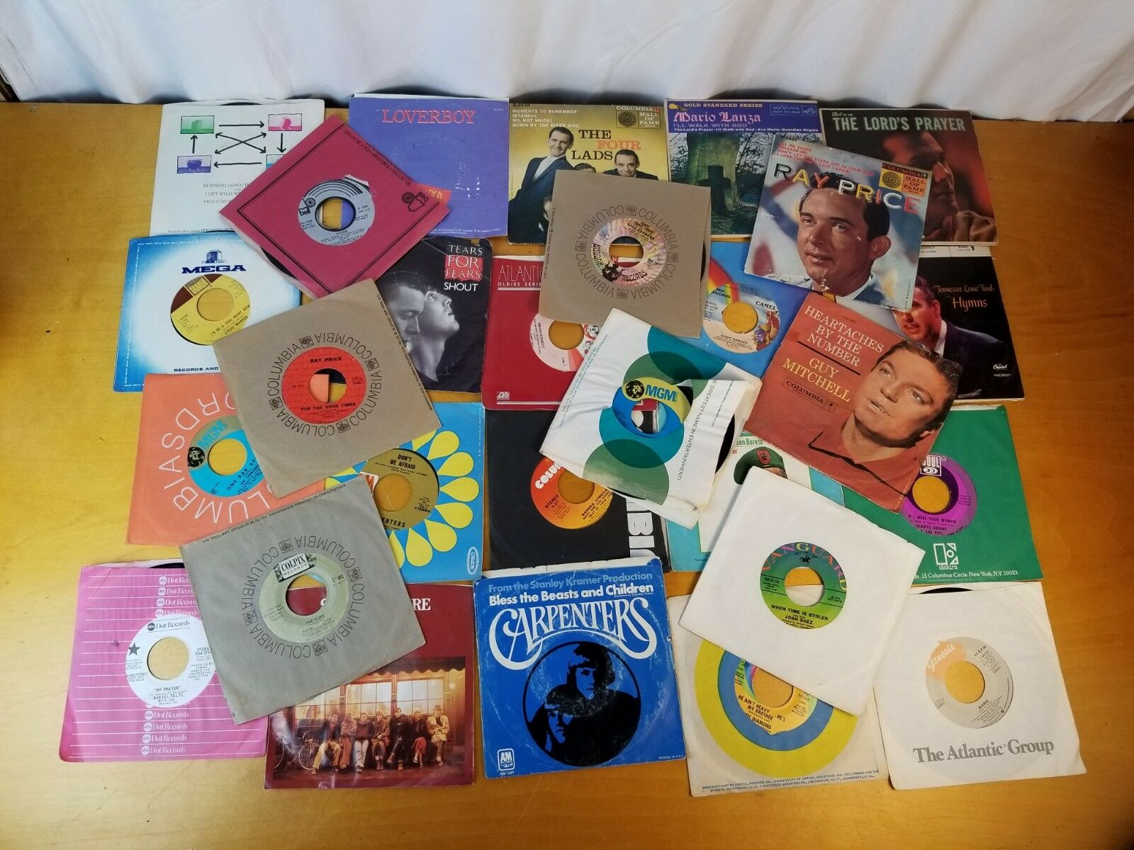"Lot Of 28 45's Records Jukebox 7"" 45 rpm"