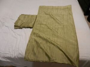2 Green Panel Curtains - 4'x7'
