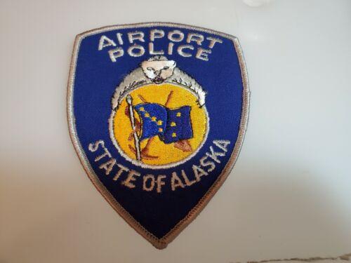 VINTAGE OBSOLETE SHOULDER PATCH AIRPORT POLICE STATE OF ALASKA