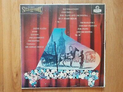 CS 6055 - RACHMANINOV PIANO CONCERTO PETER KATIN ED1 GROOVED BB VINYL LP RECORD