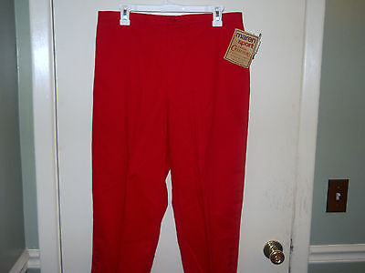 Maren Sport Ladies Casual Cruisers/Capris Size 14 Red Stretch Fabric NWT for sale  Shipping to India
