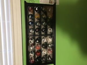 NFL mini helmets display