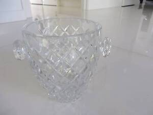 Vintage Crystal Ice Bucket with Crystal handles Brighton East Bayside Area Preview