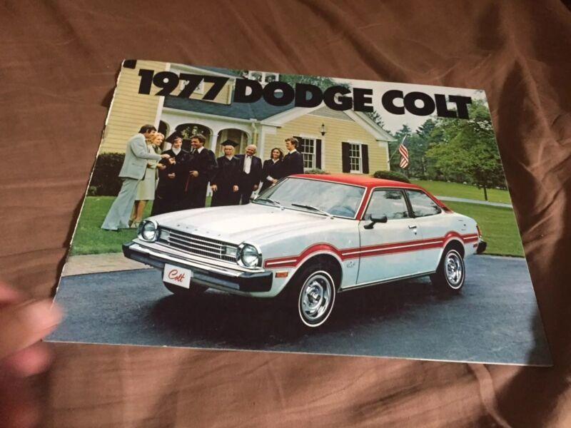 1977 Dodge Colt Mitsubishi Lancer USA Market  Color Catalog Brochure Prospekt