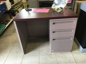 "Metal desk 36"" wide"