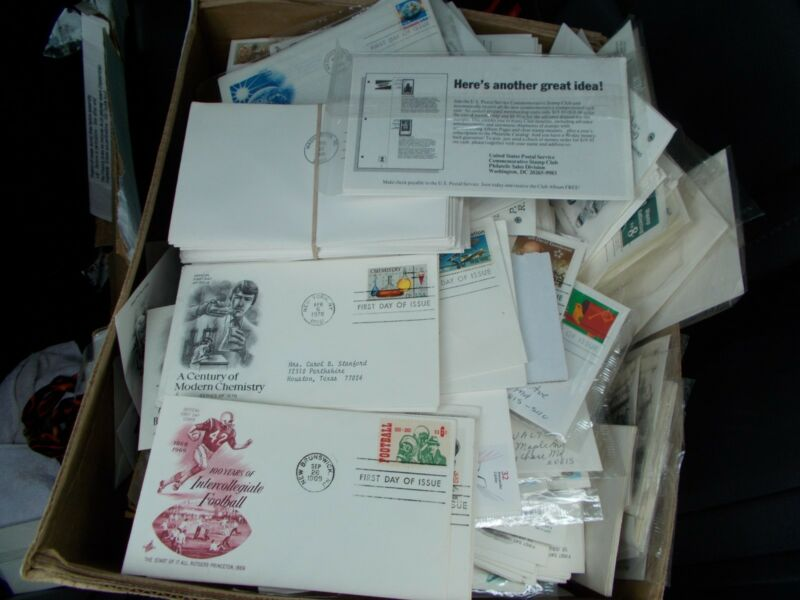 200 CT LOT OF 1ST DAY COVERS cacheted USA, buy 2 or more and save
