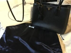 Prada Womens Lux Nero Saffiano Leather