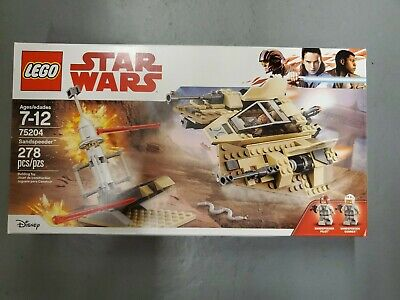 LEGO 75204 - Star Wars Sandspeeder Building Kit Sealed NIB Retired Rare