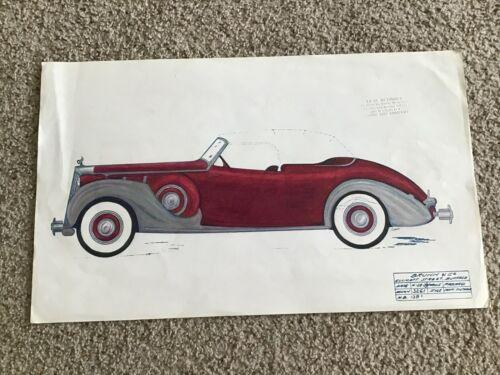1939  Packard  Victoria conv.  Art work from Brunn custom body builder co.