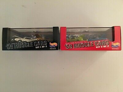 HOT WHEELS BOX SETS LOT OF 2 30TH ANNIVERSARY OF 69 MUSCLE CARS SET 1 AND 2 OF 2