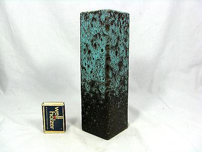 "Rare 70´s design Ruscha Keramik torquoise "" Lava "" pottery  vase  812  20 cm"