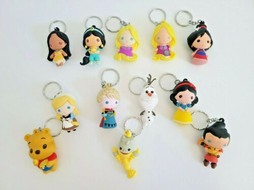 DISNEY PRINCESS AND CHARACTER 3D KEYCHAIN FROM RANDOM BLIND BAG