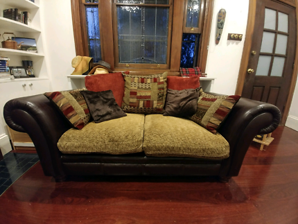 Living/Lounge room - *2 seater + 3 seater (sofa bed) & foot stool