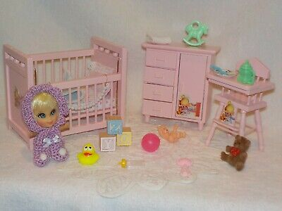 Mattel Windy Liddle Kiddle Doll With Pink Nursery Furniture & Toy Accessories