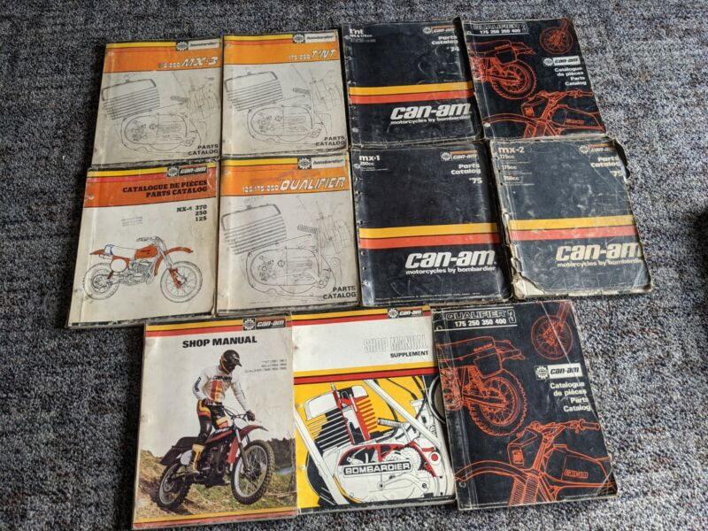 Can Am Motorcycles Bombardier Antique Manuals