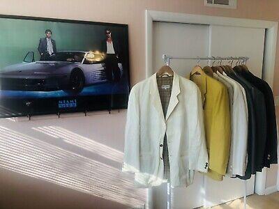 Vintage Giorgio Armani Blazer Sport Jacket Made In Italy Miami Vice Don Johnson