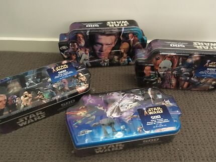 4 Collectable Star Wars 500 piece puzzle