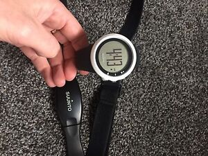 Suunto M1 heart rate watch with a chest strap