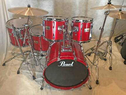 Pearl BLX All-Birch 90's 5pce Wicked Hot Red drum kit [DK 0913]