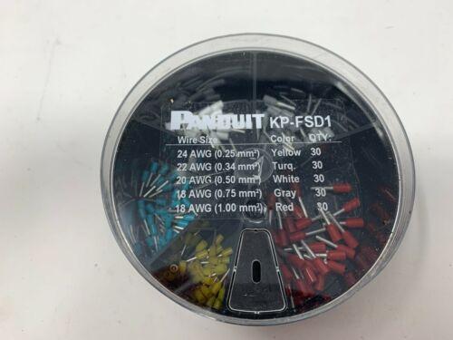 NEW Panduit KP-FSD1 Ferrule Kit with #24 - 18 AWG Insulated Din Ferrules
