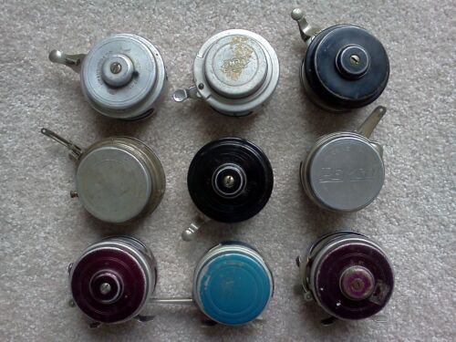 Vintage Automatic Fly Reels - Lot of 9 Reels