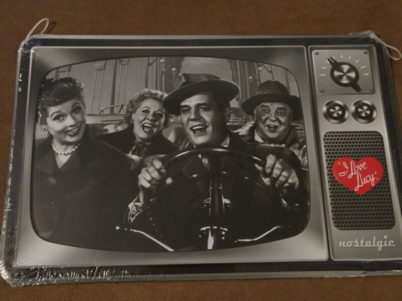 """I Love Lucy Nostalgic Tin Metal Sign-Approx. 13"""" X 8 1/2""""-New"""