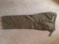 + TIE -USED British Army FAWN SHIRT- LONG SLEEVE NO.2 FADS BROWN TROUSERS