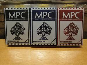 3 Decks Set MPC Impressions Foil Playing Cards - Italia - 3 Decks Set MPC Impressions Foil Playing Cards - Italia