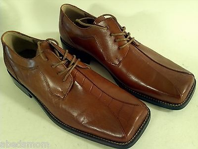 Zengara Brown Square Toe Men's Laced Oxford Shoe 10 Medium