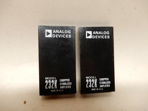 Analog Devices Model 232K Chopper Stabilized Amplifier (2) NOS?