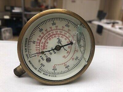 Robinair 11693 Manifold 2 12 Pressure Gauge 18 Mpt R-22 R-12 R502