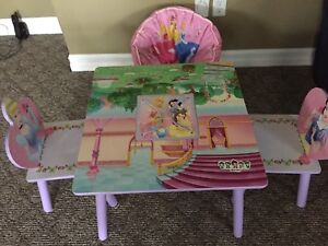Children Princess Table and Chairs Set