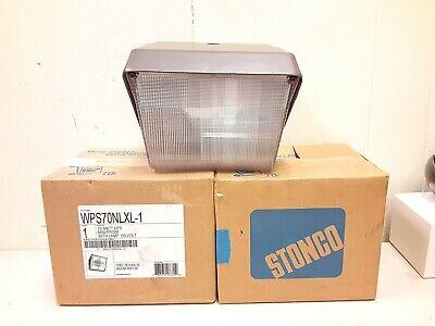 Lot Of 2 Stonco Wps70nlxl-1 70 Watt Hps Flood Light Brown
