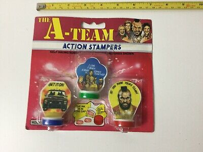 Rare A-Team Action Stampers Triple 3  Pack Vintage 1983 Carded & Unopened Toy