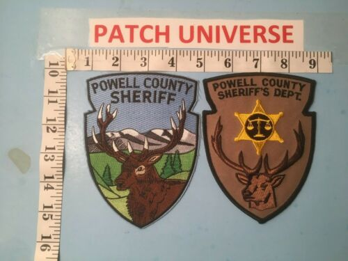 LOT OF TWO DIFFERENT POWELL COUNTY MONTANA  SHOULDER PATCHES  J063