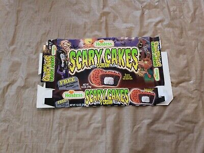 Halloween Cakes Cupcakes (2000 Hostess Scary Cakes Scream Filling Halloween Monster Cut-Out `Cupcake)