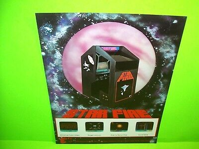 Exidy STAR FIRE Original 1979 Video Arcade Game Flyer Sitdown Space Age Shooter
