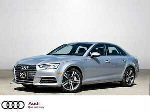 2017 Audi A4 2.0T Technik|Comfort Seating|Navi|Leather|Roof