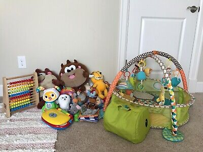 Baby/Toddler/gym/plush, Large Toy Lot, Mixed Brand Toys Vtech, Fisher-price