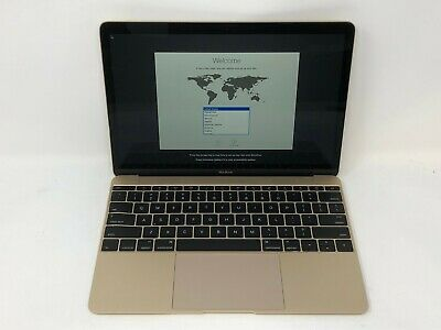 MacBook 12 Gold Early 2016 1.3GHz m7 8GB 512GB Fair Condition - Bent Frame